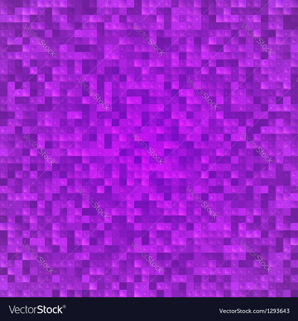 Abstract violet pixel mosaic seamless background vector | Price: 1 Credit (USD $1)