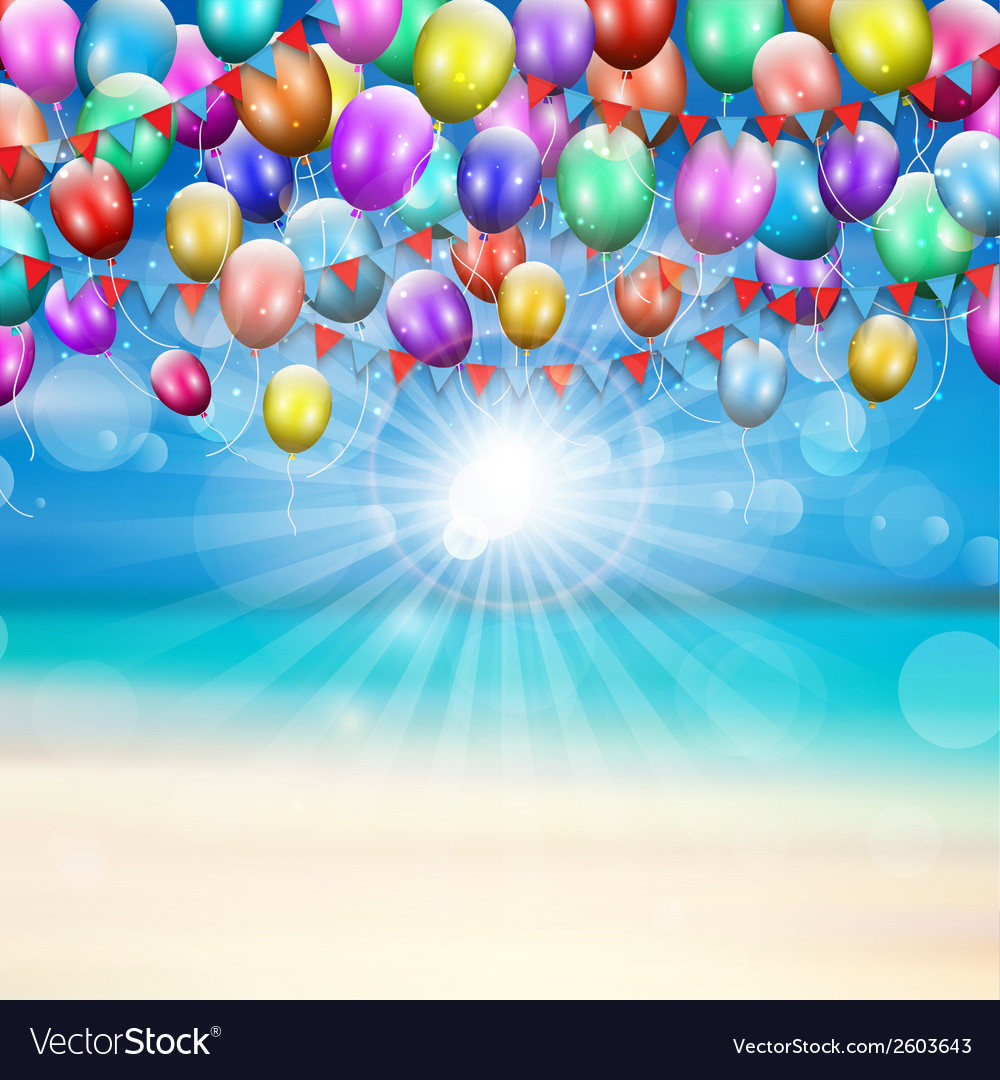 Balloons background 1607 vector