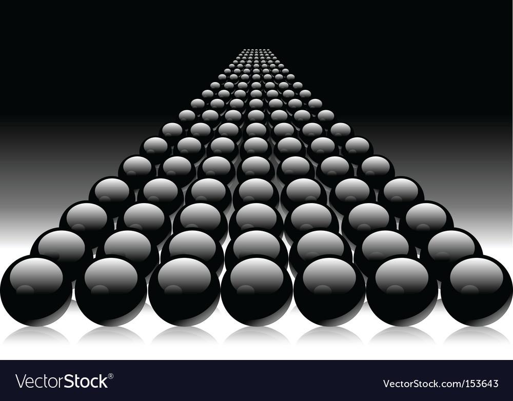 Black balls vector | Price: 1 Credit (USD $1)