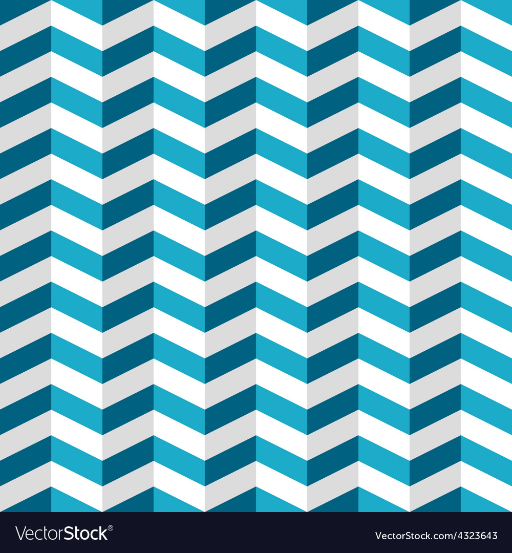 Blue and white chevron seamless pattern vector | Price: 1 Credit (USD $1)