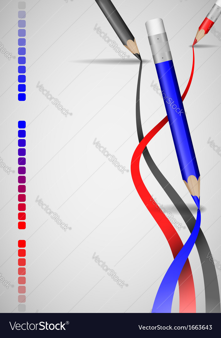 Colour pencils drawing lines vector   Price: 1 Credit (USD $1)