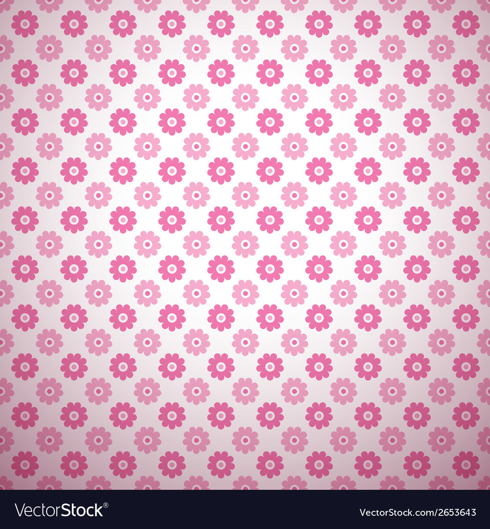 Cute abstract floral bright pattern tiling vector | Price: 1 Credit (USD $1)