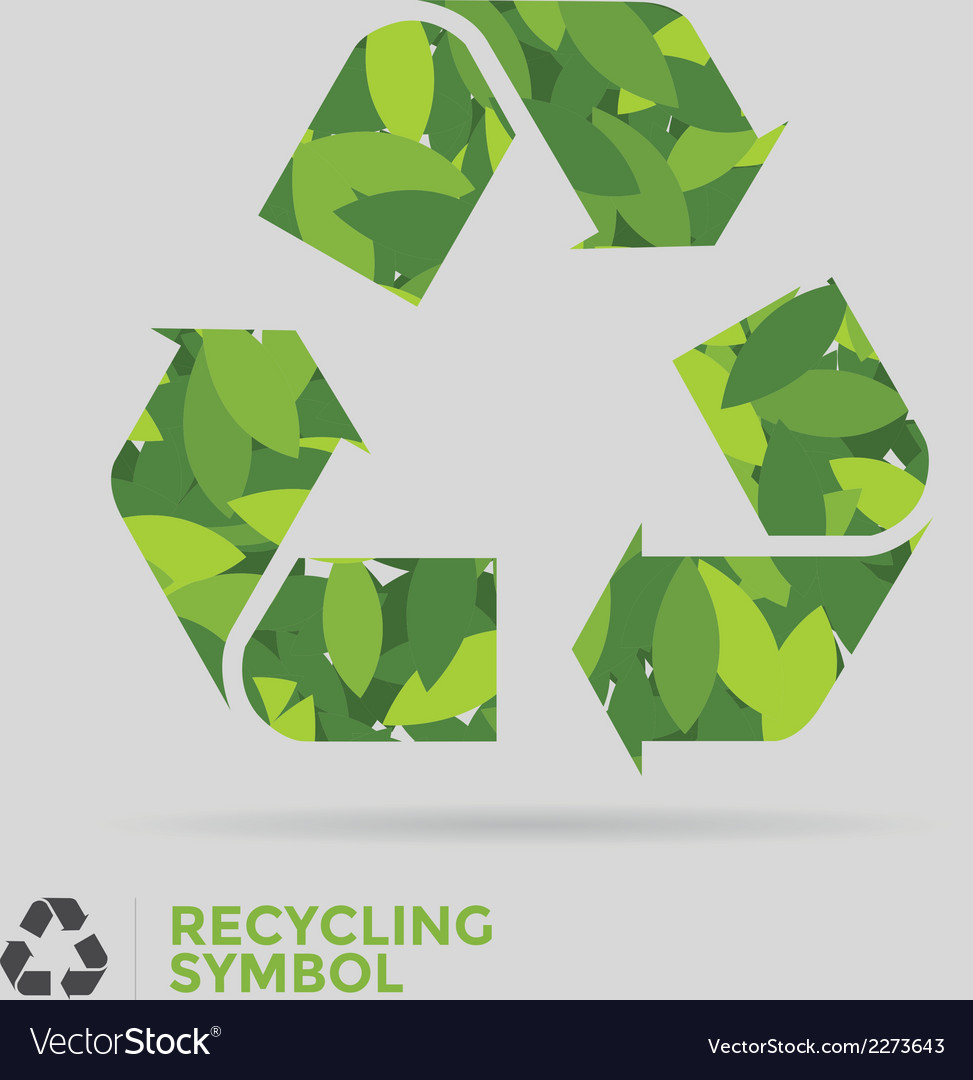 Leaf recycle symbol vector | Price: 1 Credit (USD $1)