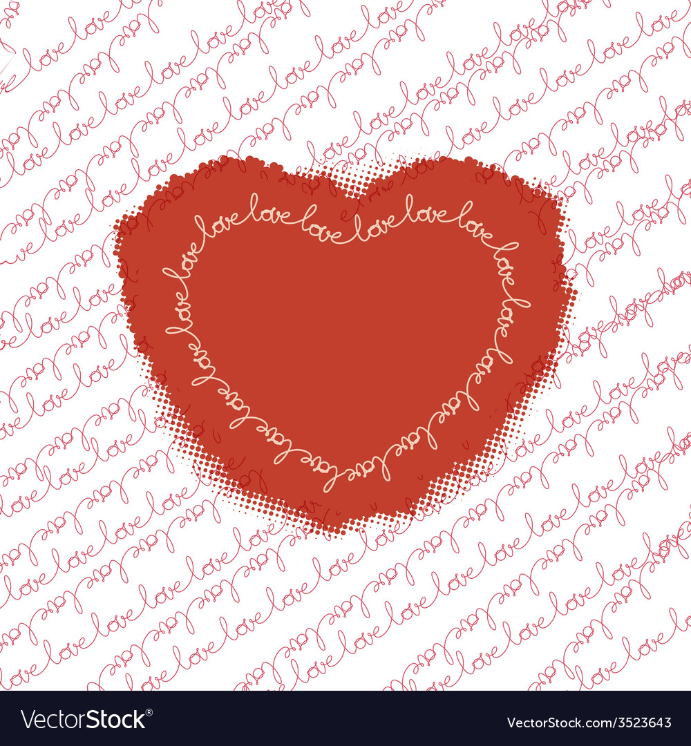 Love pattern with heart eps 10 vector | Price: 1 Credit (USD $1)