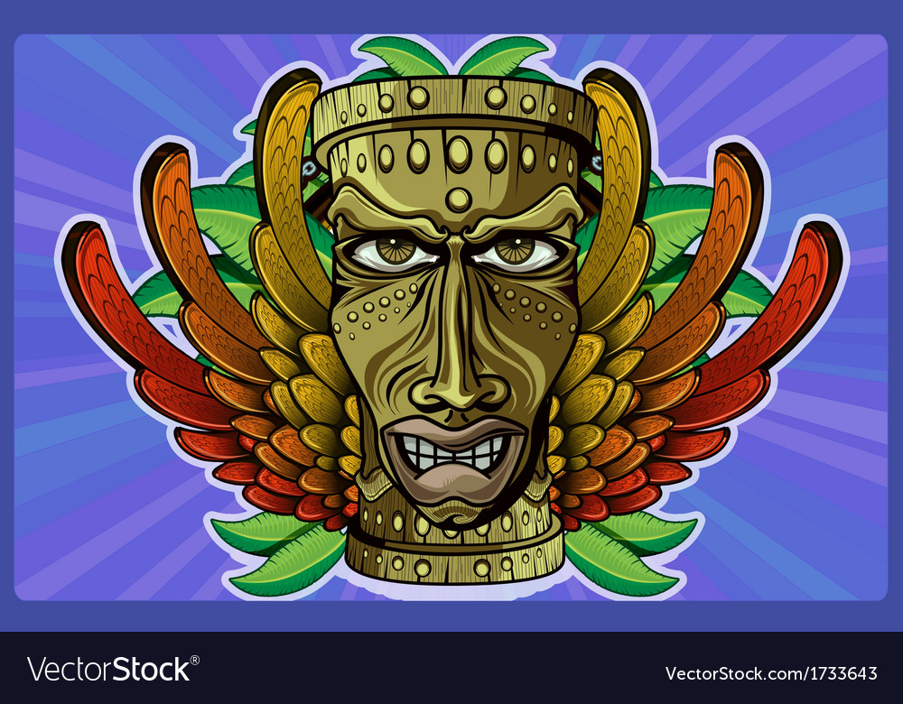 Rasta tiki human plain vector | Price: 3 Credit (USD $3)