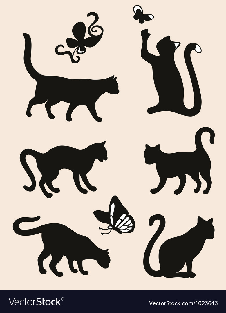 Six cat vector | Price: 1 Credit (USD $1)