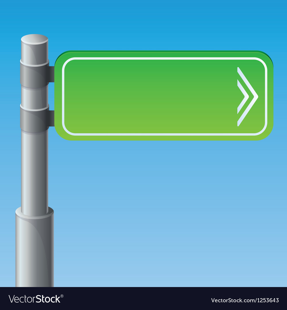 Street road sign vector | Price: 1 Credit (USD $1)