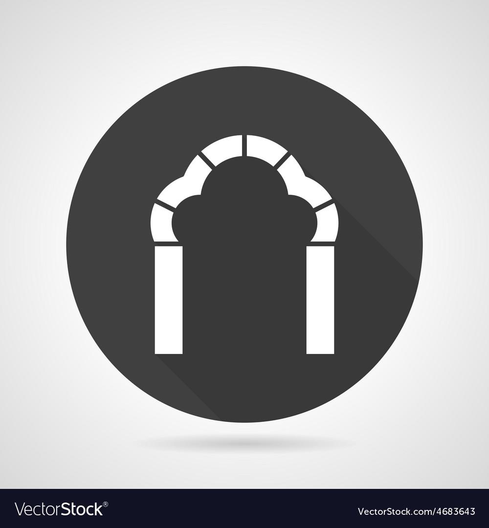 Trefoil arch black round icon vector   Price: 1 Credit (USD $1)