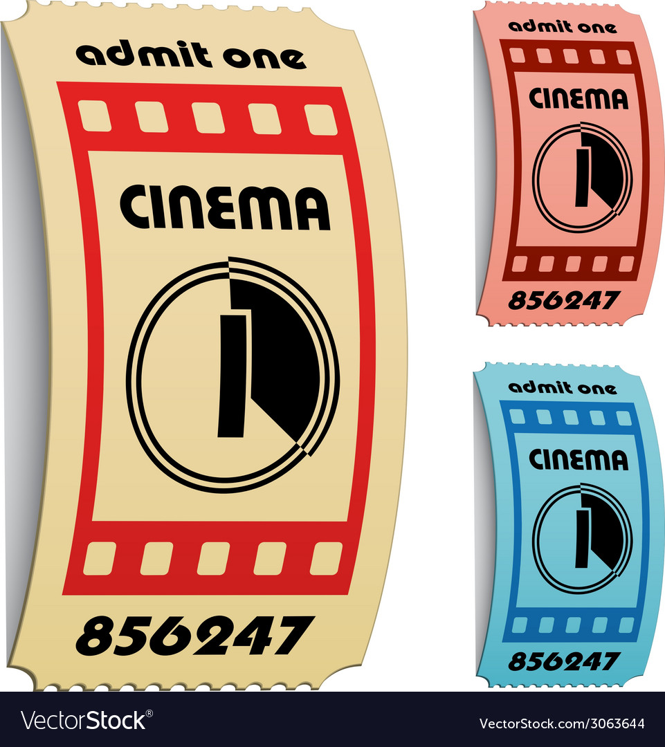 3d curled cinema tickets vector | Price: 1 Credit (USD $1)