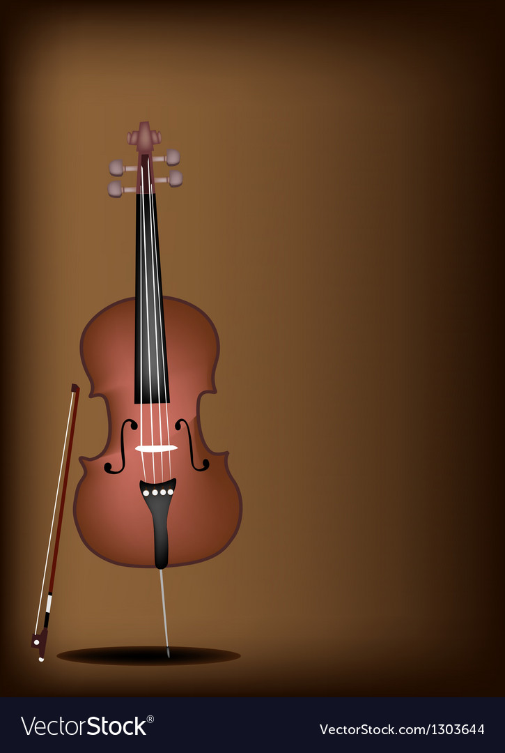 A beautiful brown cello on dark brown background vector | Price: 1 Credit (USD $1)