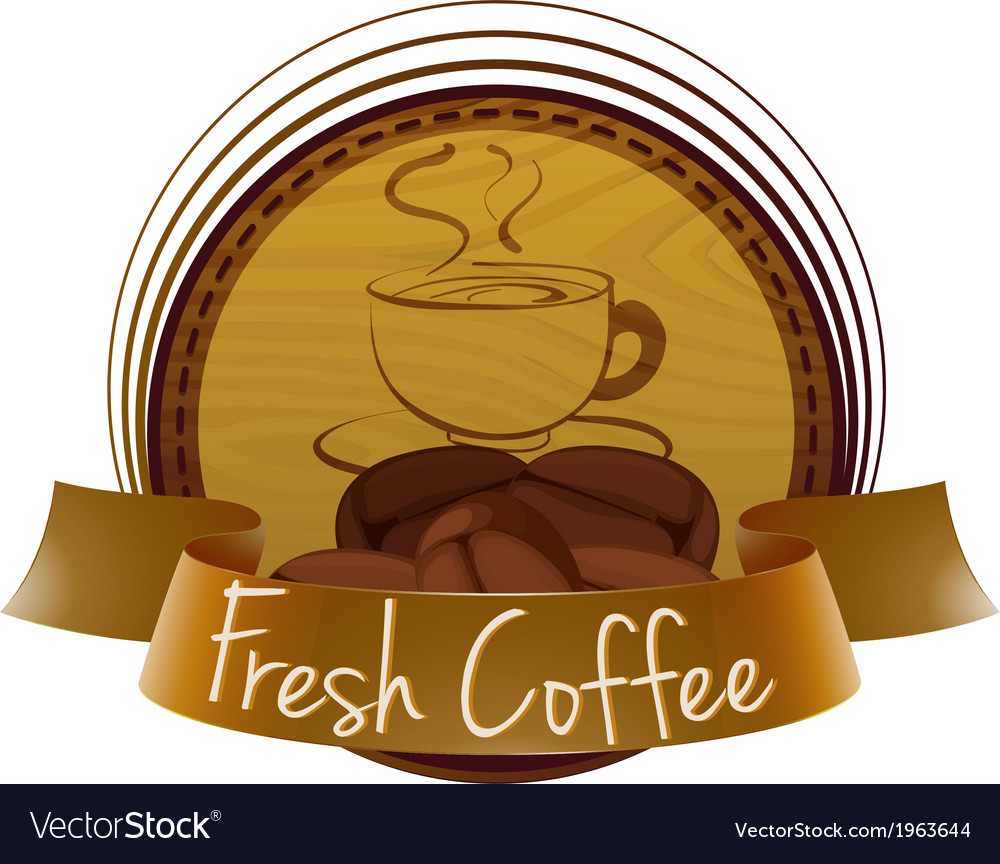 A fresh coffee label vector | Price: 1 Credit (USD $1)