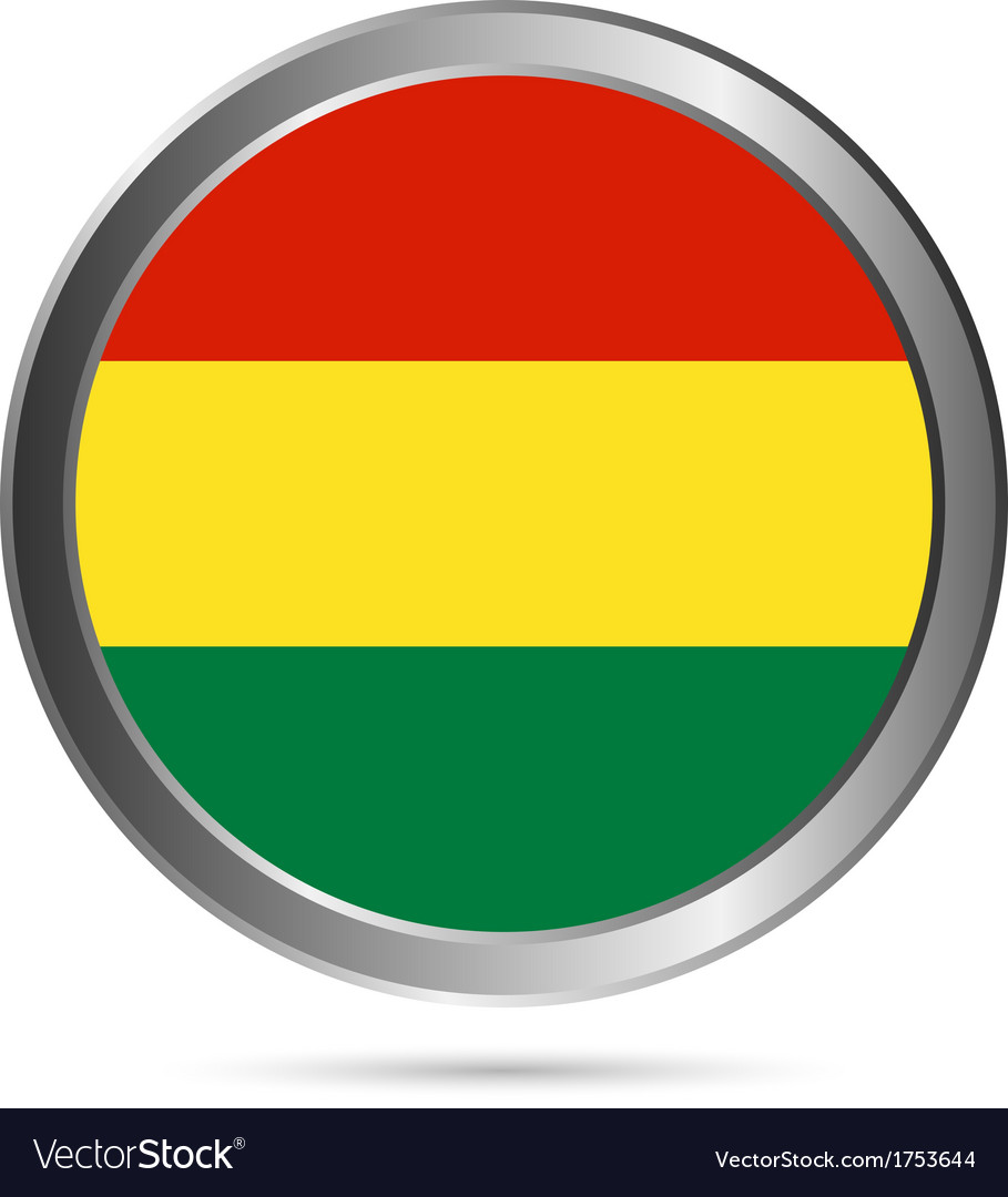 Bolivia flag button vector | Price: 1 Credit (USD $1)