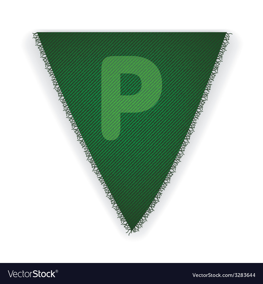 Bunting flag letter p vector | Price: 1 Credit (USD $1)