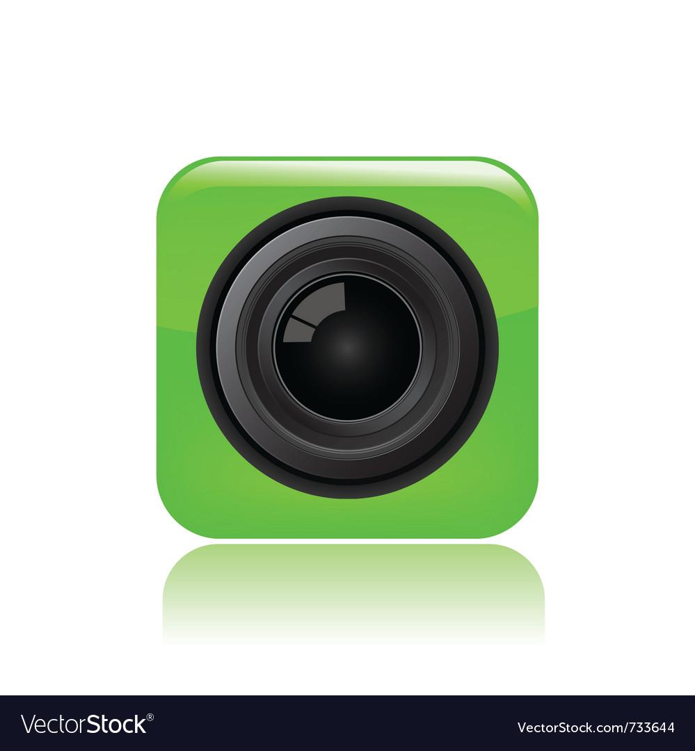 Camera eye icon vector   Price: 1 Credit (USD $1)