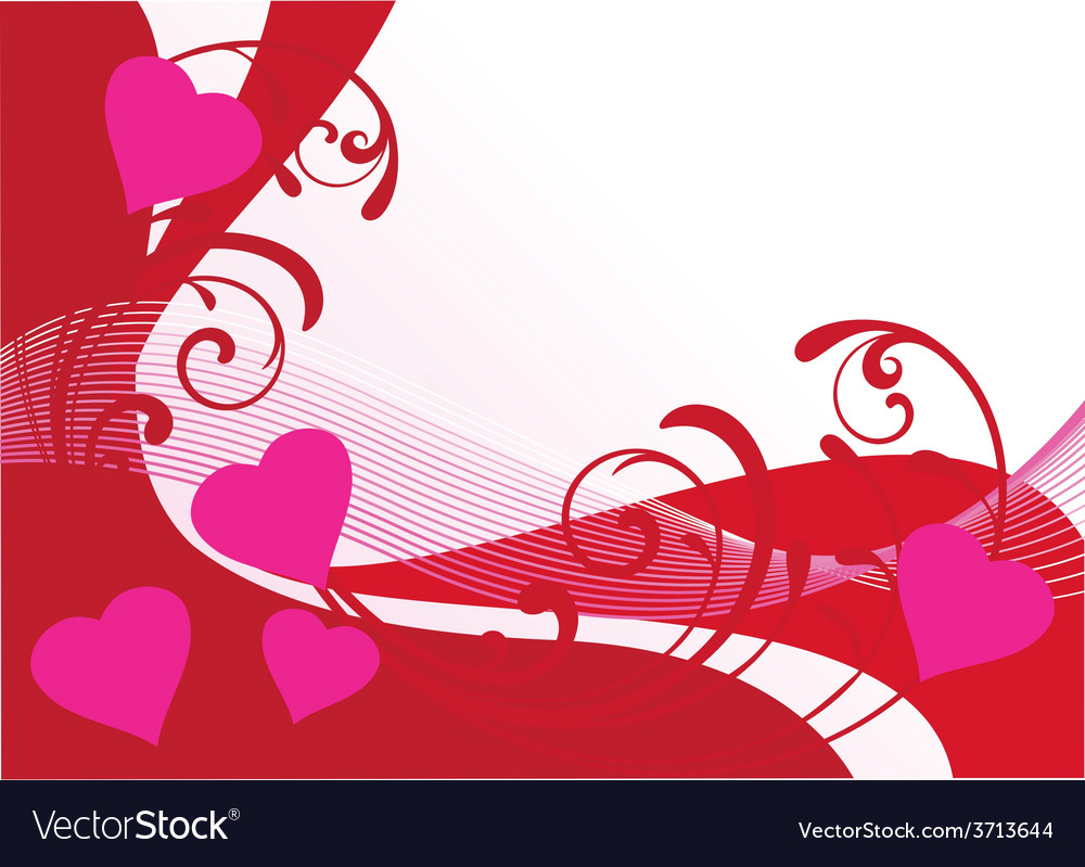 Floral card hearts vector | Price: 1 Credit (USD $1)