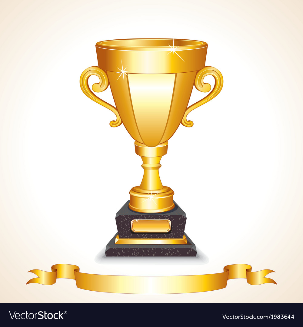 Golden champions trophy cup image vector | Price: 1 Credit (USD $1)