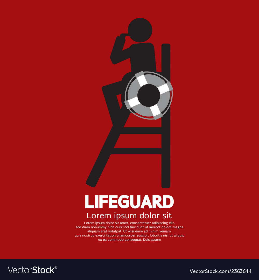 Lifeguard vector | Price: 1 Credit (USD $1)