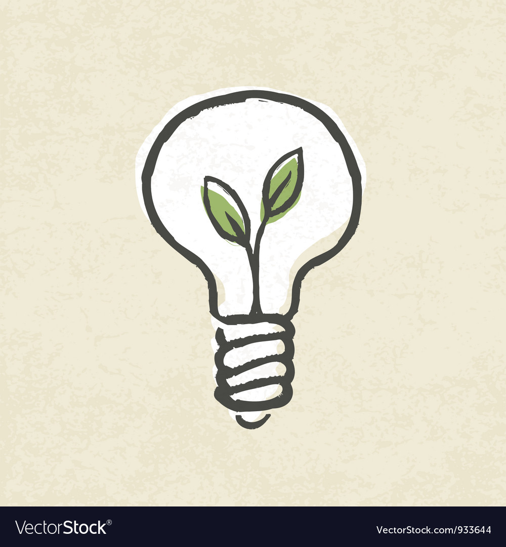 Lightbulb ecology concept vector | Price: 1 Credit (USD $1)