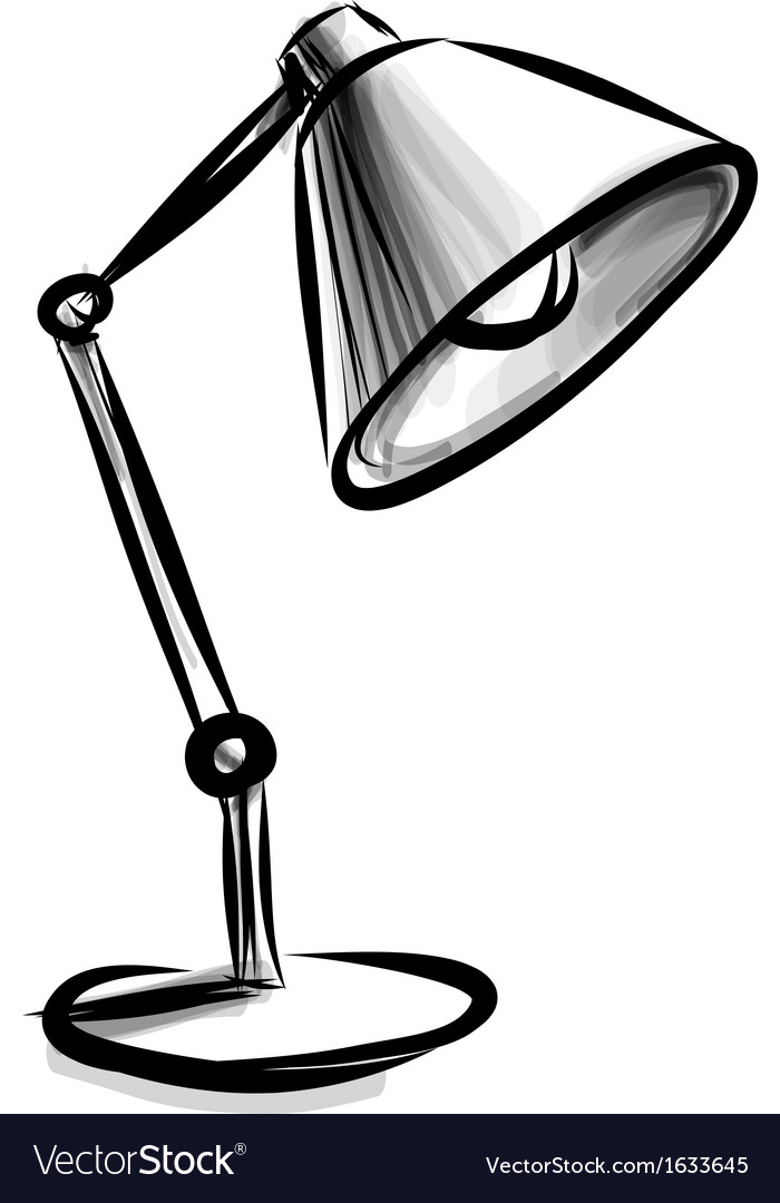 Adjustable table lamp isolated on white vector | Price: 1 Credit (USD $1)