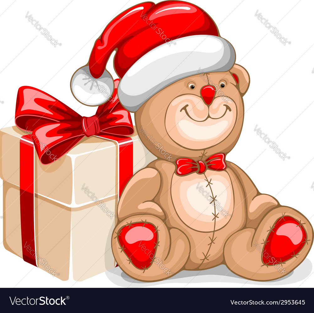 Bear christmas vector