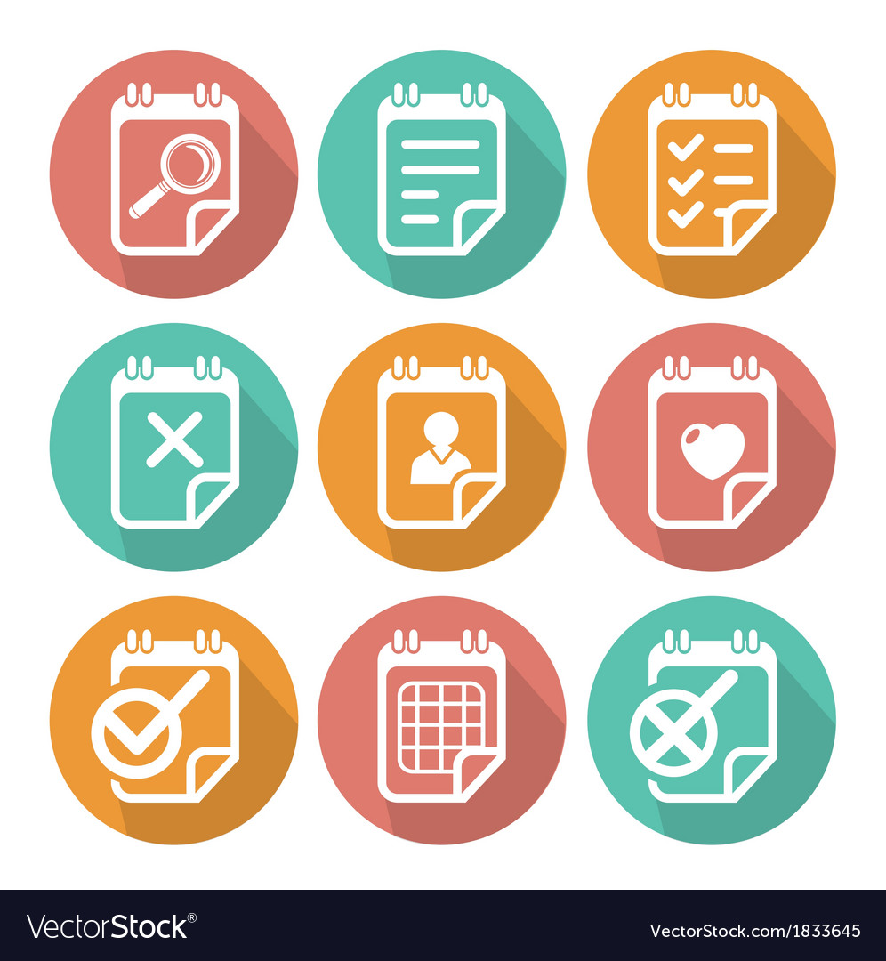 Business flat icon set vector | Price: 1 Credit (USD $1)