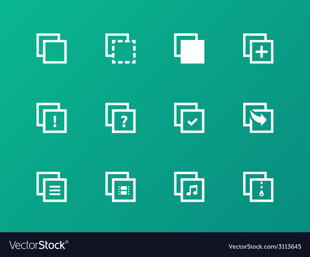 Copy paste icons for apps web pages vector | Price: 1 Credit (USD $1)
