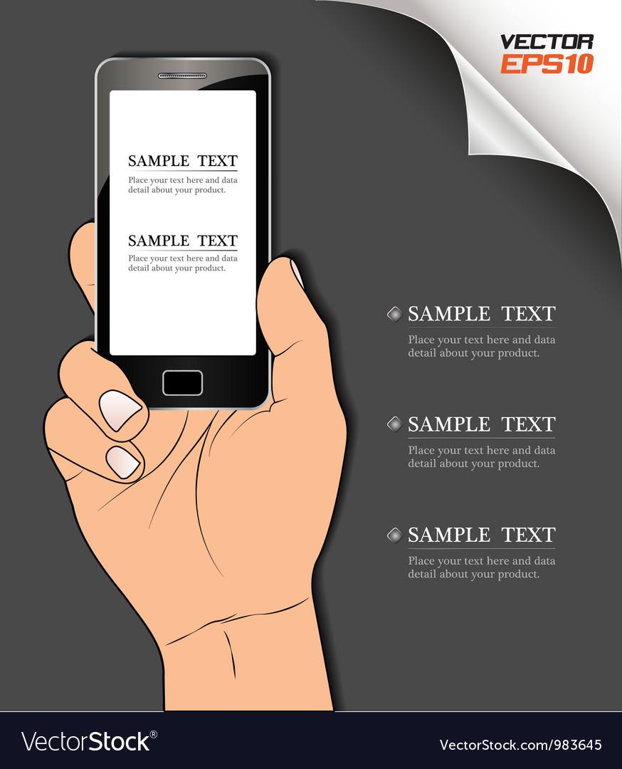 Handphone vector | Price: 1 Credit (USD $1)