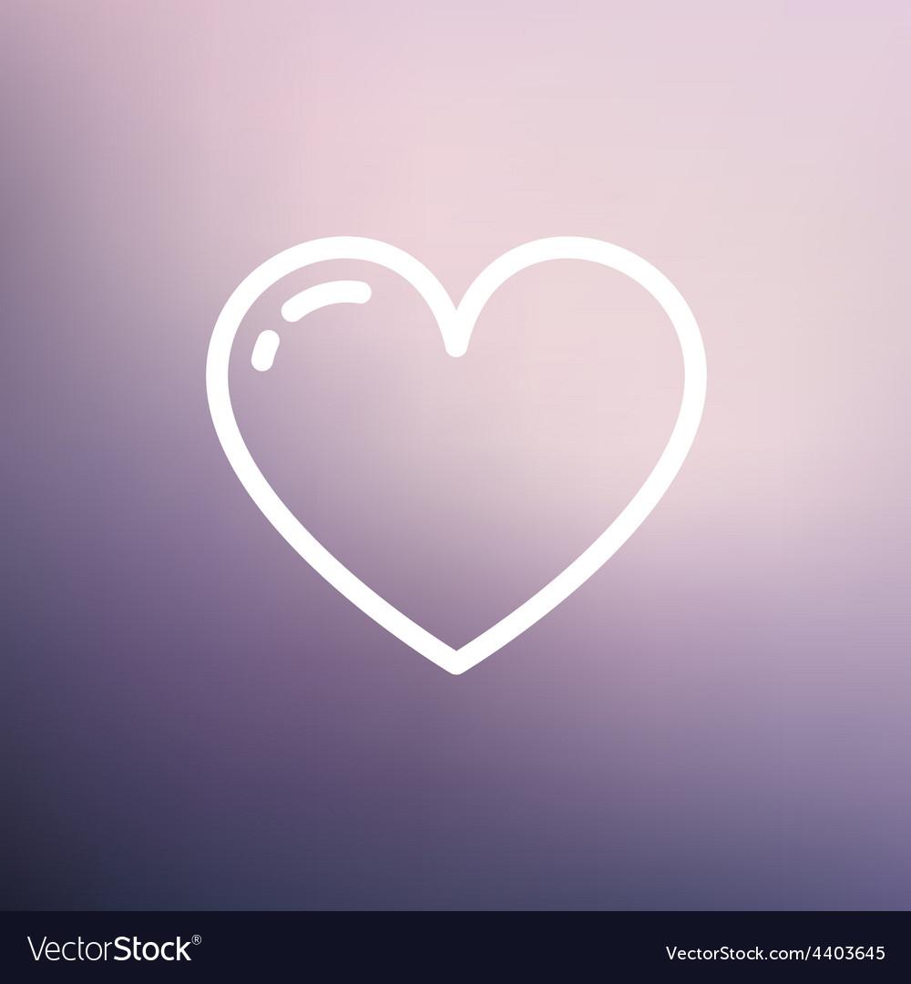 Heart thin line icon vector | Price: 1 Credit (USD $1)