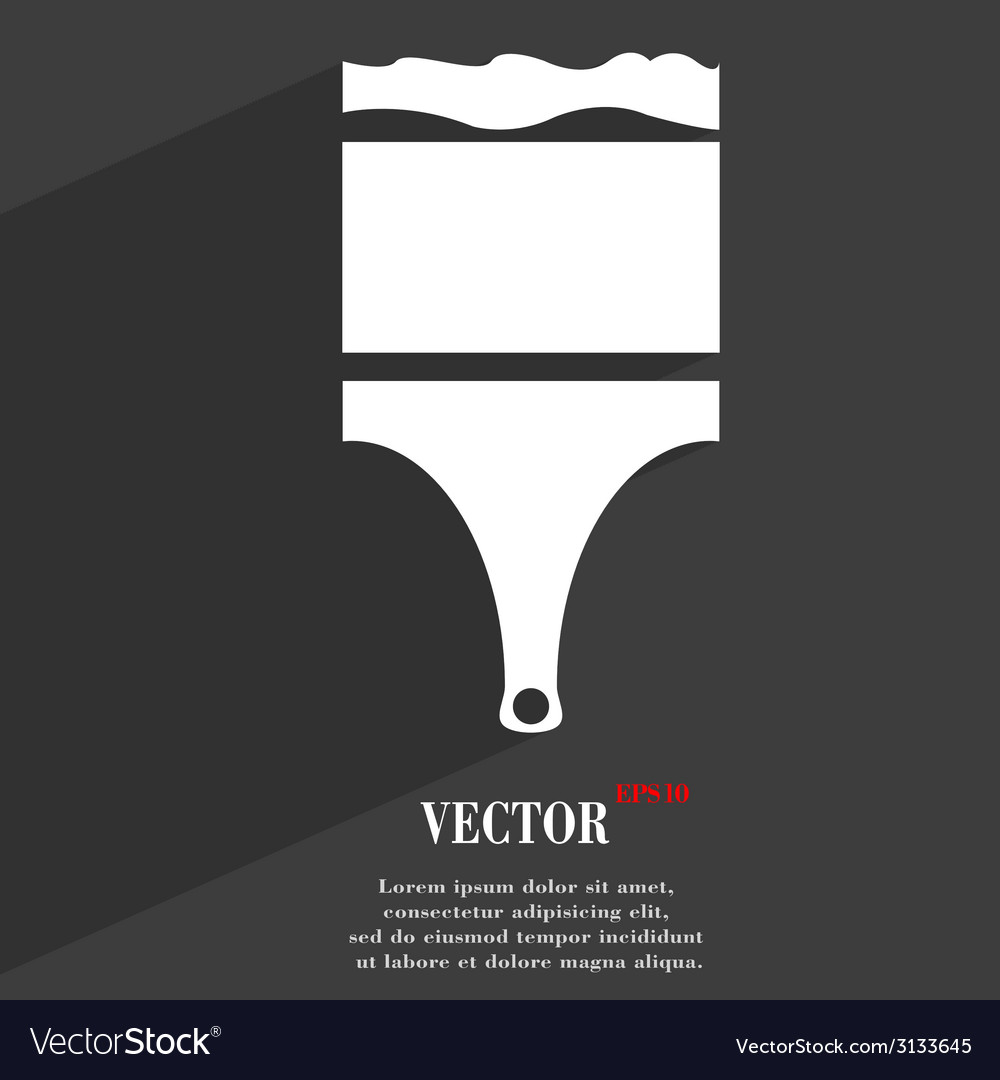 Paint brush icon symbol flat modern web design vector | Price: 1 Credit (USD $1)