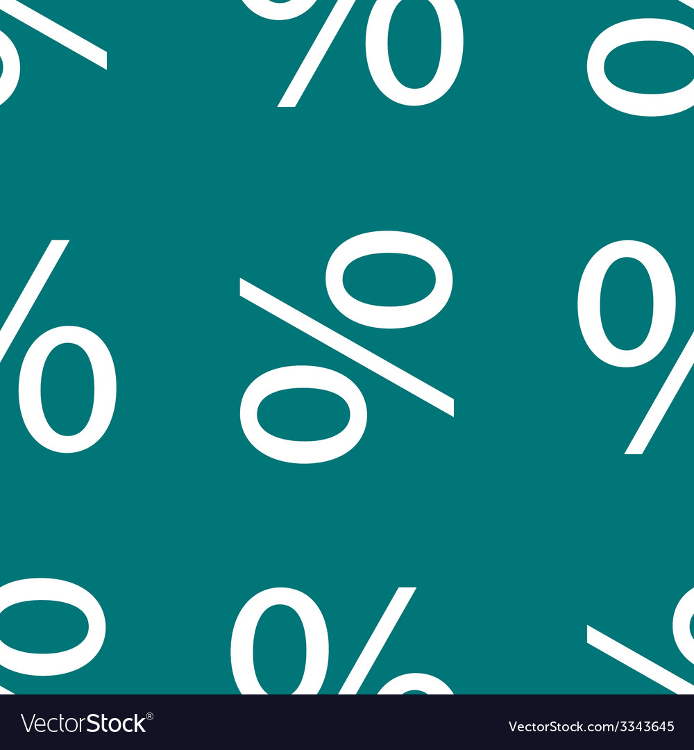Percent discount flat design seamless gray pattern vector | Price: 1 Credit (USD $1)