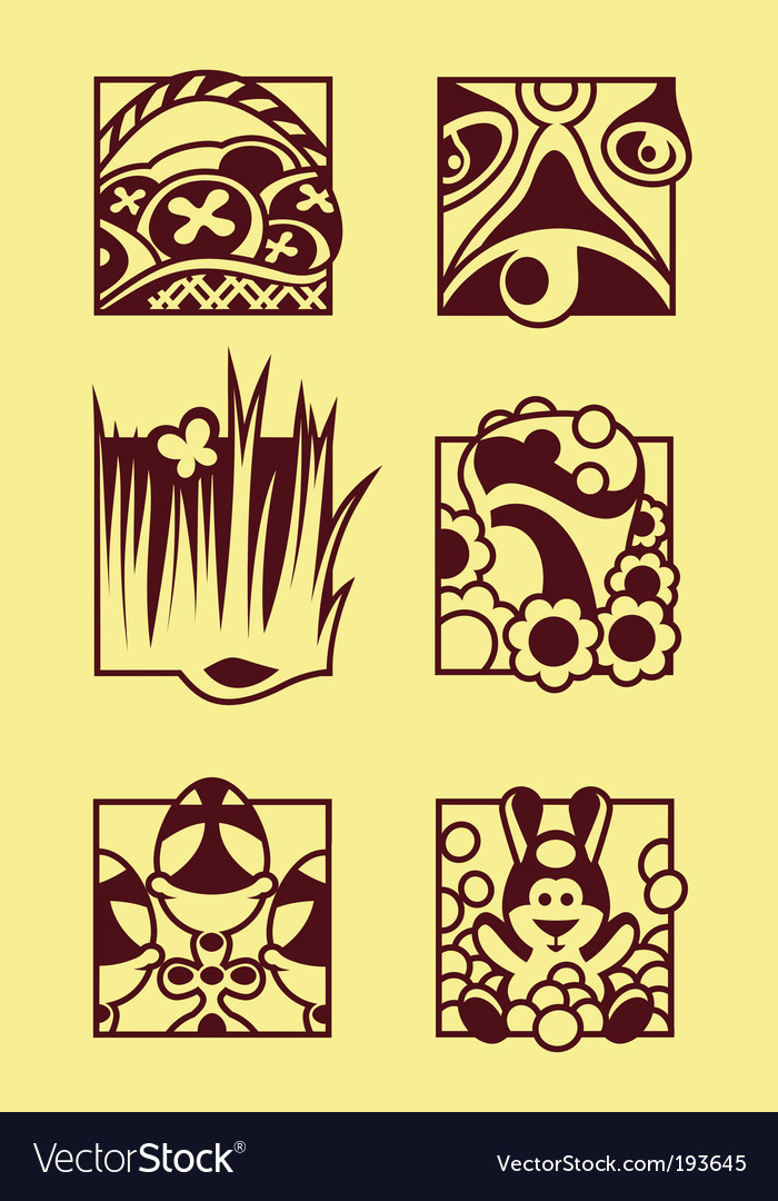 Set of easter symbols vector | Price: 1 Credit (USD $1)