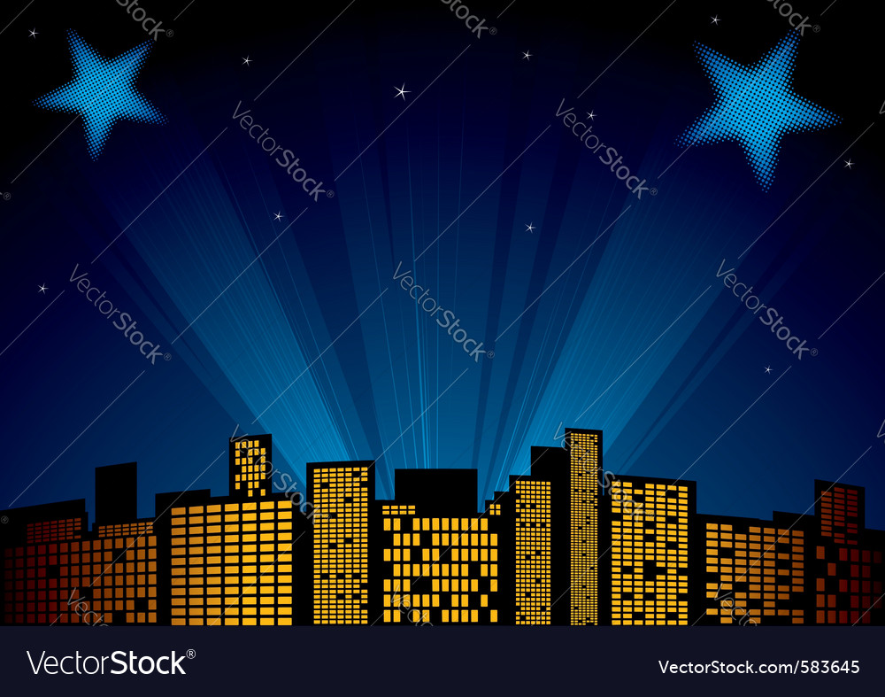 Stars at sky vector | Price: 1 Credit (USD $1)