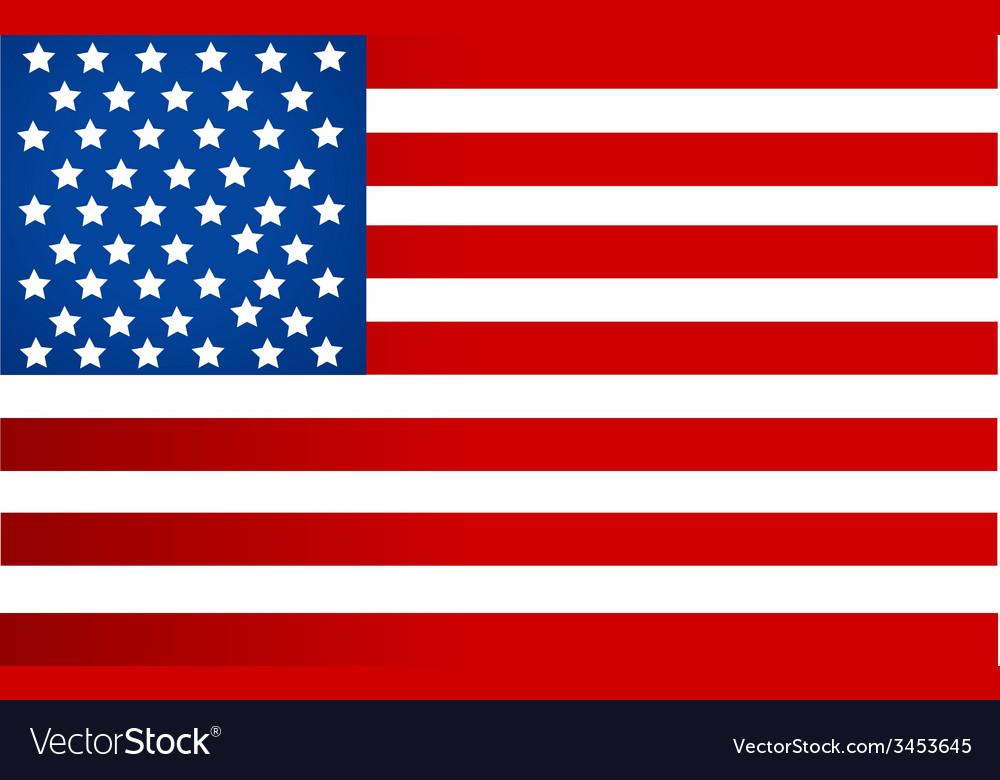 Usa flag design vector | Price: 1 Credit (USD $1)