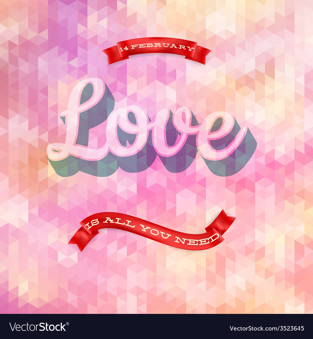 Valentines day poster eps 10 vector | Price: 1 Credit (USD $1)
