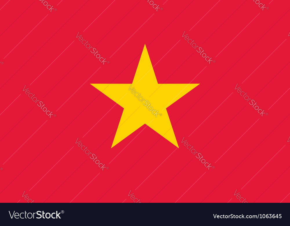 Vietnam flag vector | Price: 1 Credit (USD $1)