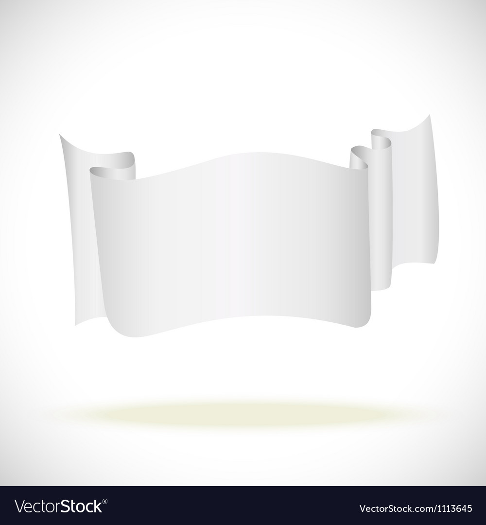 White banner attention enfolded back for business vector | Price: 1 Credit (USD $1)