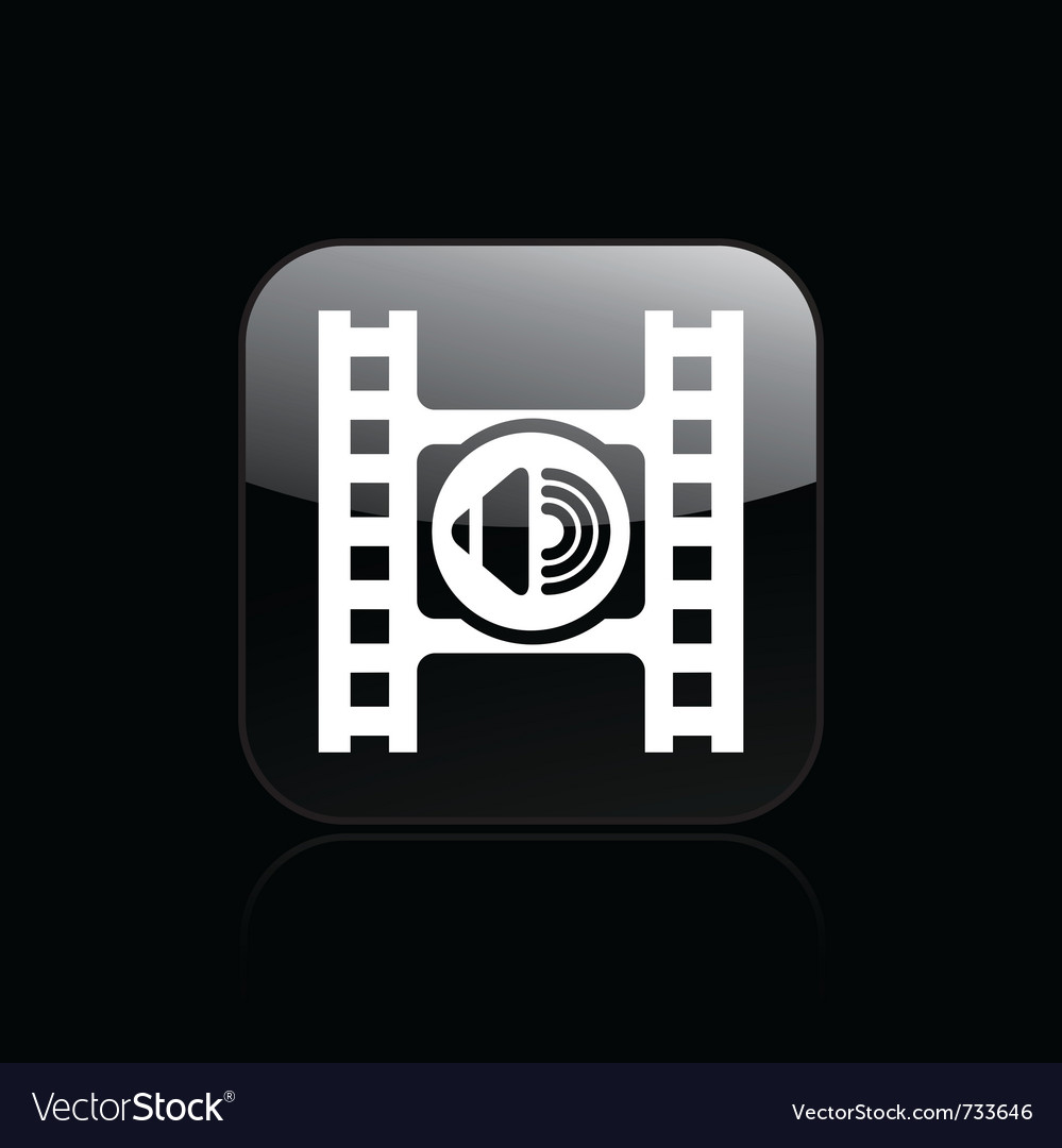 Audio player icon vector | Price: 1 Credit (USD $1)