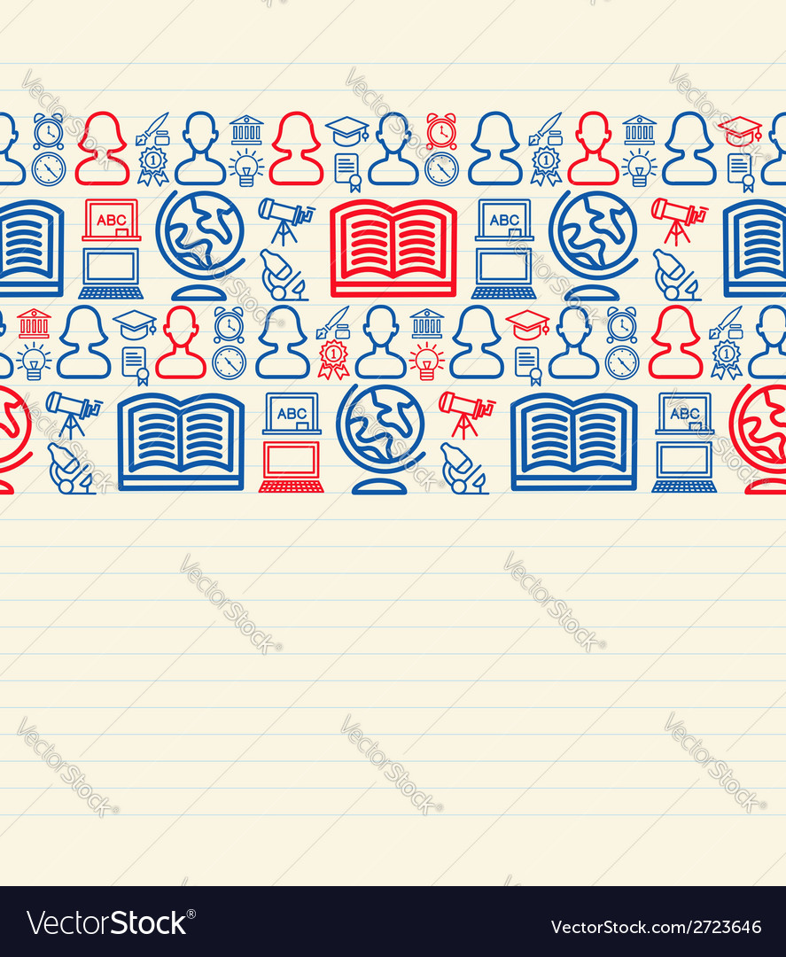 Back to school seamless pattern background vector | Price: 1 Credit (USD $1)