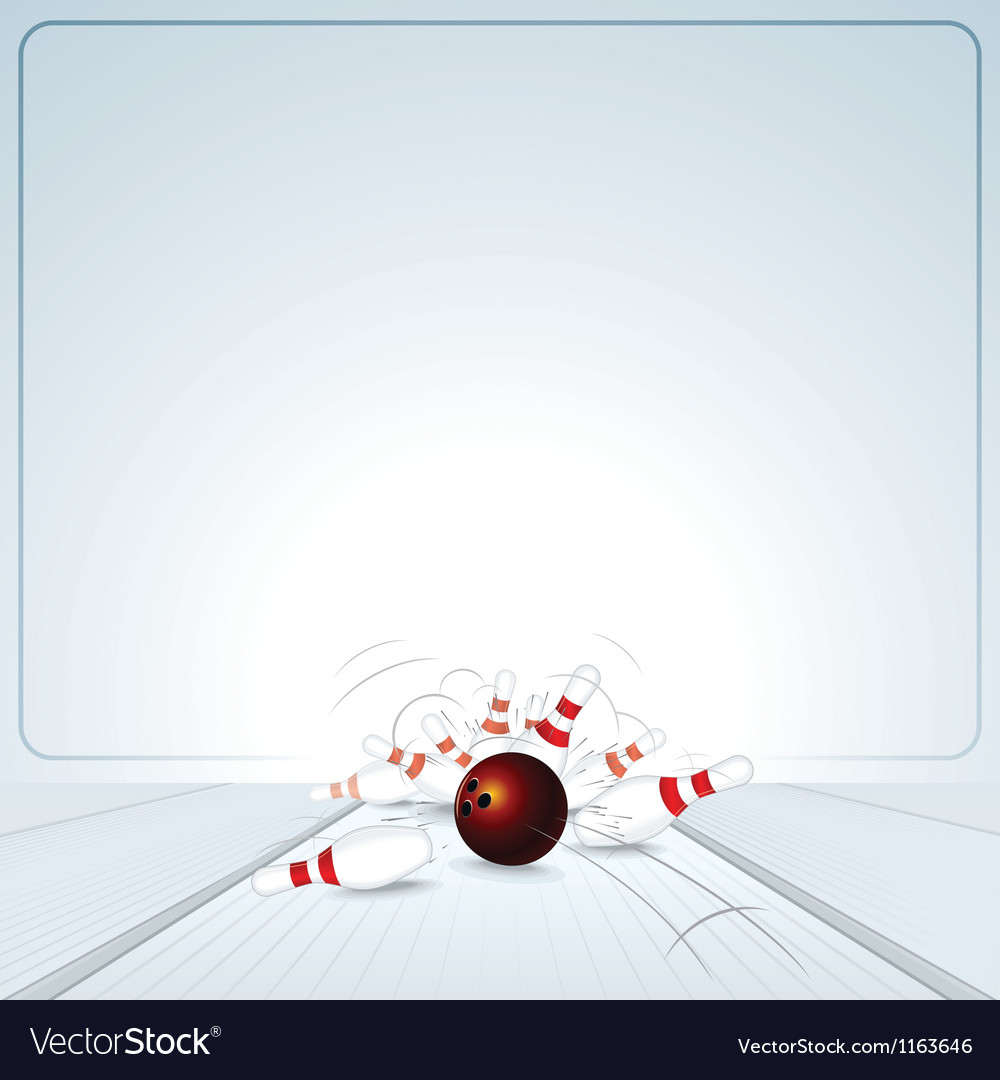 Bowling strike ball vector | Price: 1 Credit (USD $1)