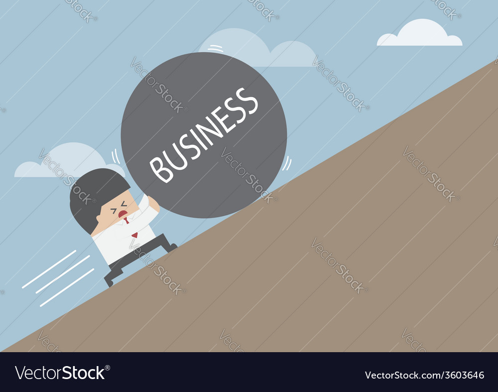 Businessman rolling ball vector | Price: 1 Credit (USD $1)