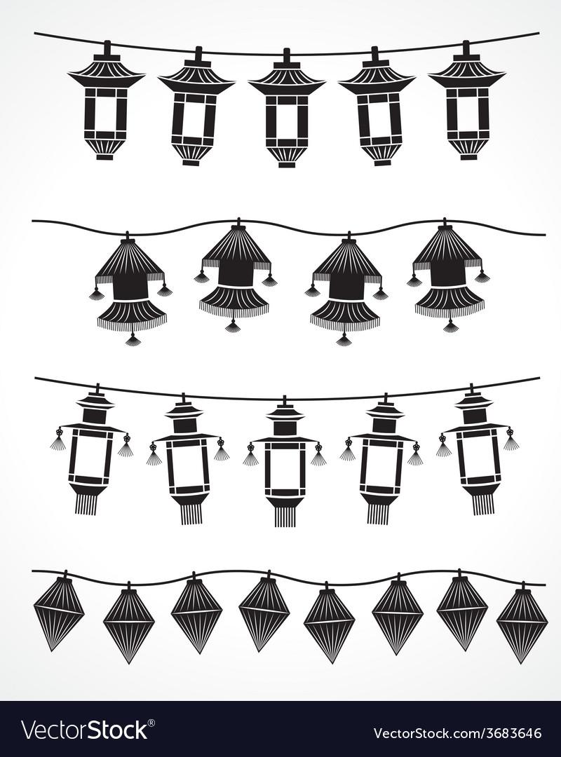Chinese lanterns vector | Price: 1 Credit (USD $1)