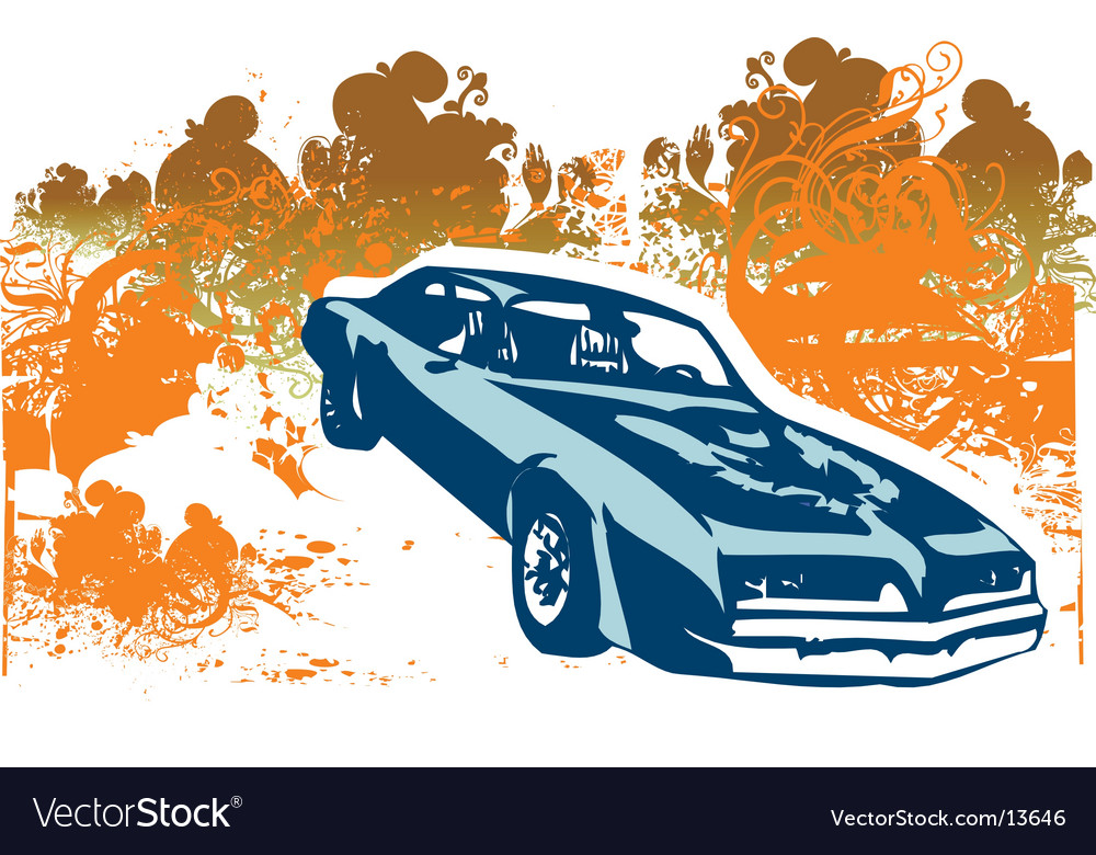 Classic car retro illustration vector | Price: 1 Credit (USD $1)