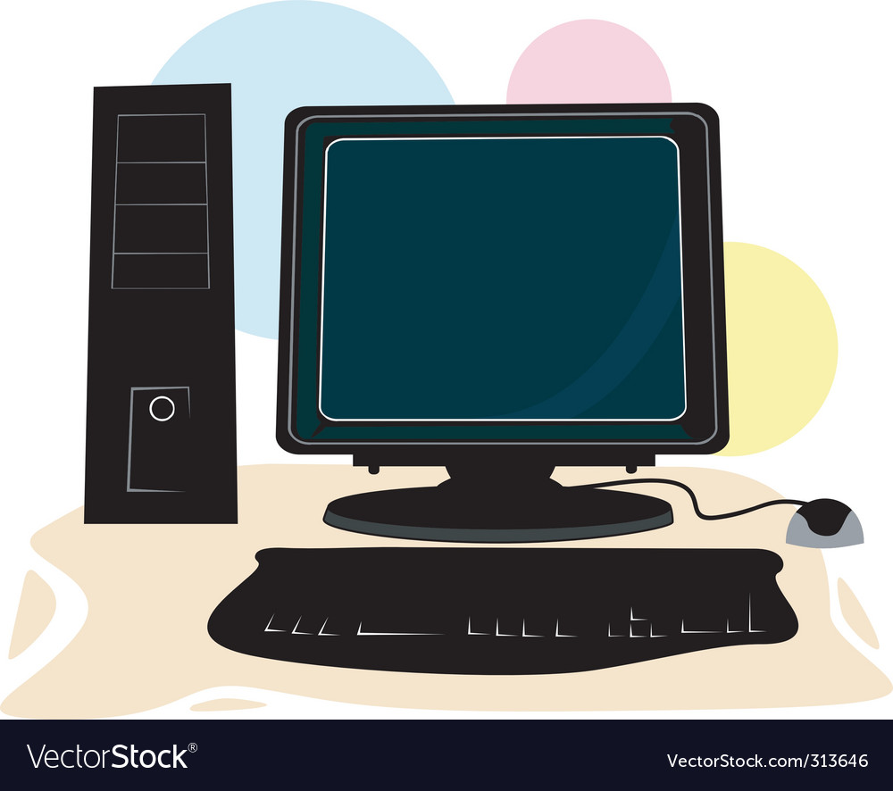 Computer system vector | Price: 1 Credit (USD $1)