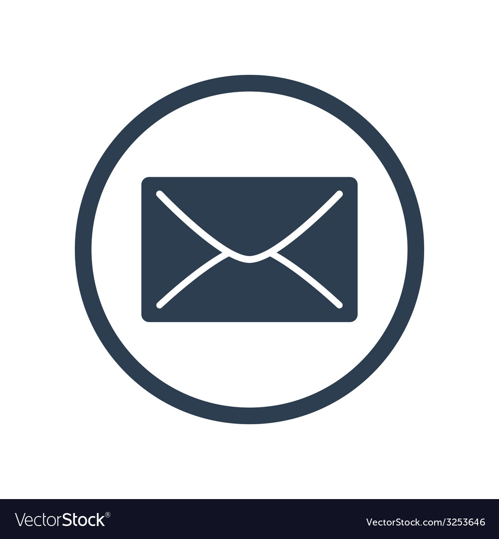 E-mail flat icon vector | Price: 1 Credit (USD $1)