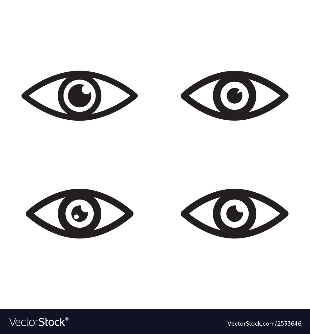 Eye icons vector | Price: 1 Credit (USD $1)