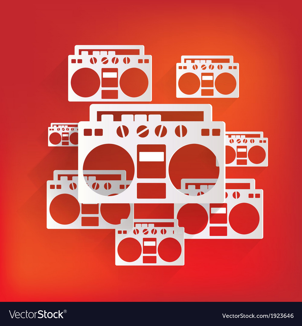 Retro tape recorder hipster style vector | Price: 1 Credit (USD $1)