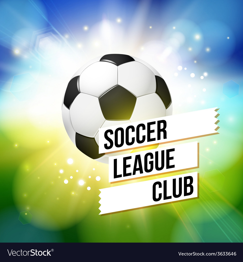 Soccer football poster bright bokeh background vector | Price: 1 Credit (USD $1)