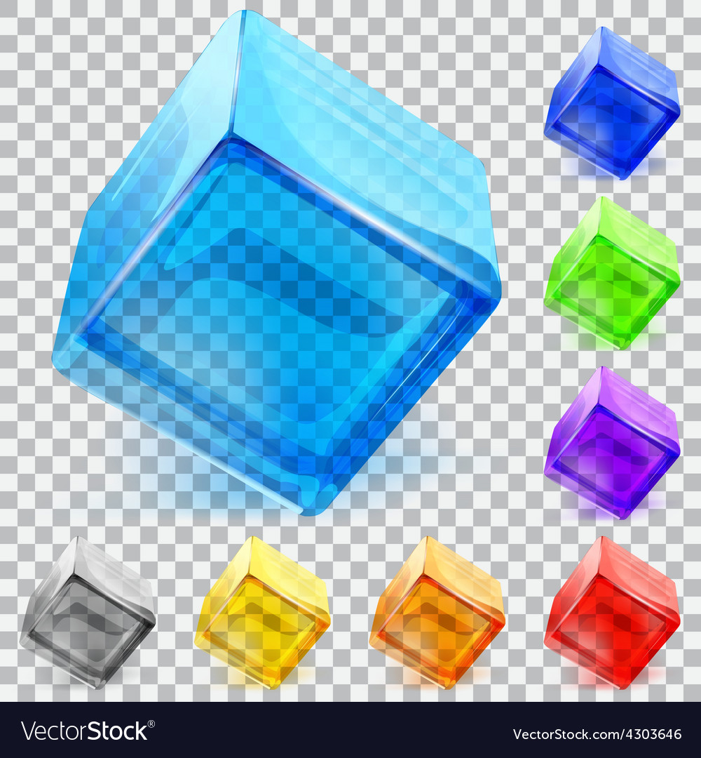 Transparent glass cubes vector | Price: 1 Credit (USD $1)