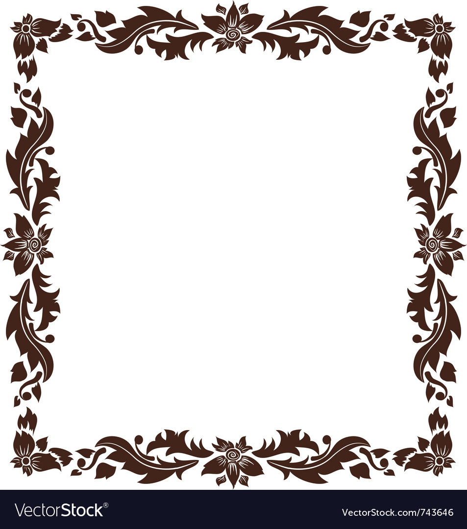 Vintage frame with foliage vector | Price: 1 Credit (USD $1)