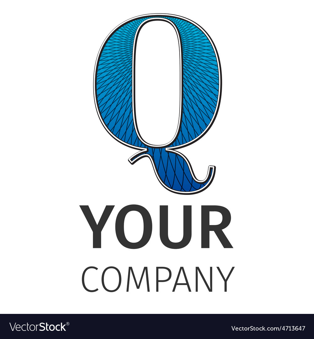 Abstract guilloche logo letter-q vector | Price: 1 Credit (USD $1)
